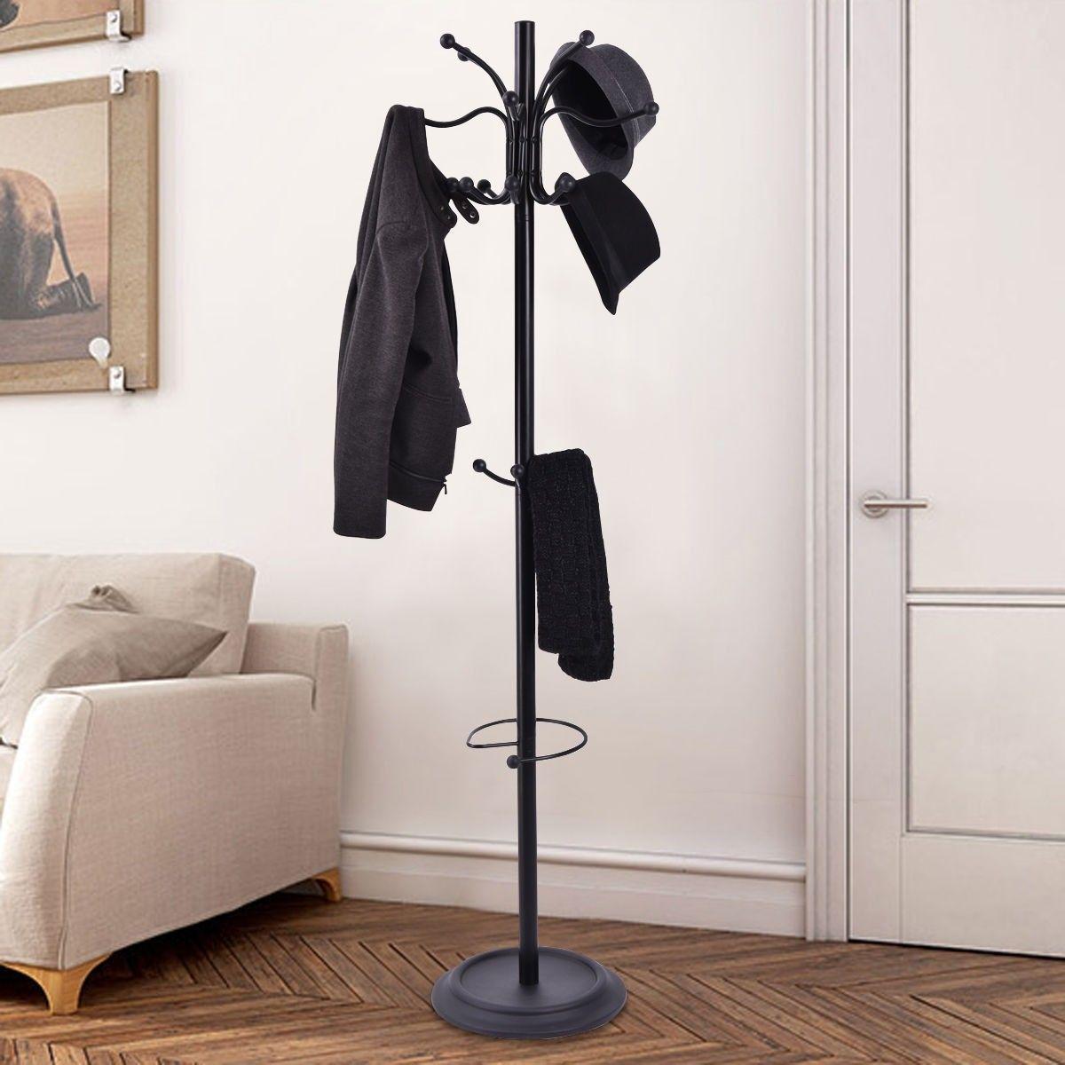 NEW Home Craft Metal Coat Rack Entryway Standing Hat Jacket Coat Hanger Rack