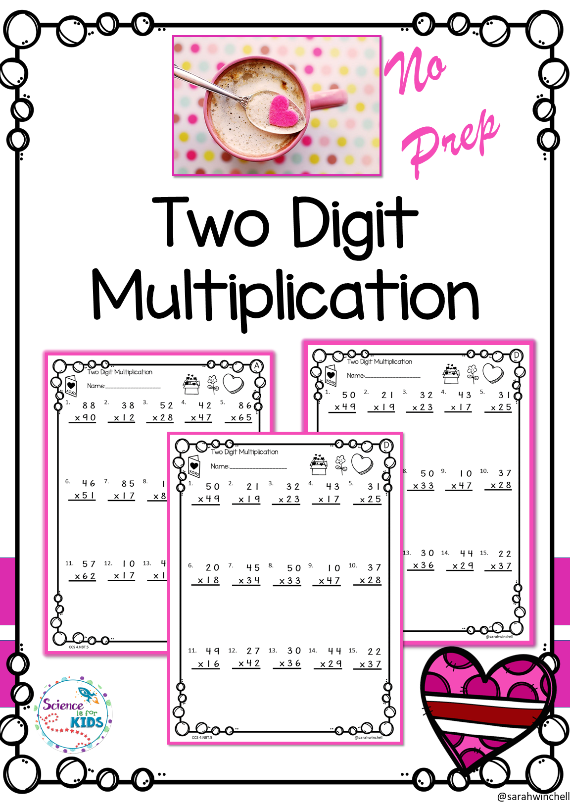 Valentines Day Activities Math Worksheets Multiplication