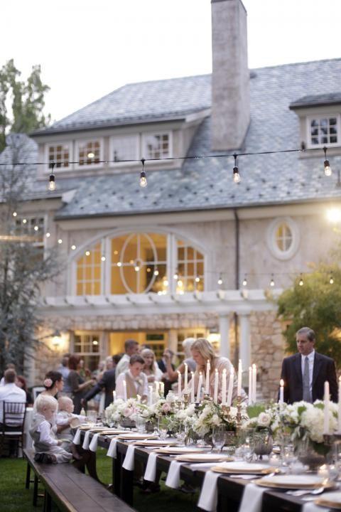 Una puesta en escena maravillosa para una fiesta al aire libre - bodas sencillas
