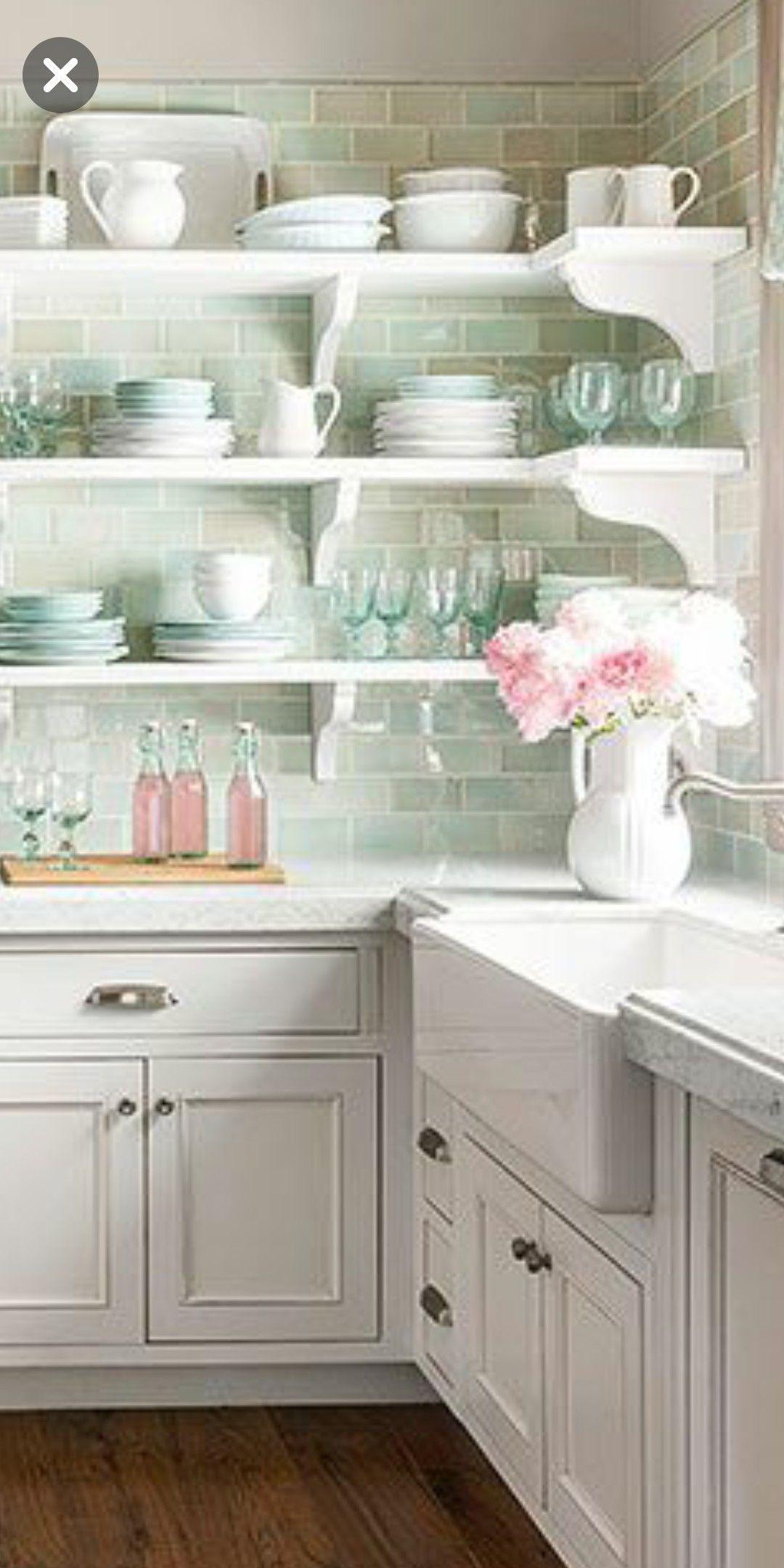 Sea Salt Tile Backsplash Cottage Kitchen Tiles Beach House