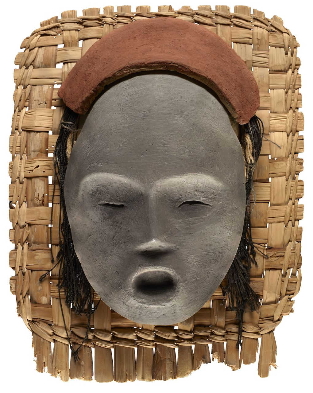 Replica of a Chinchorro mummy mask. The Chinchorro people, who ...