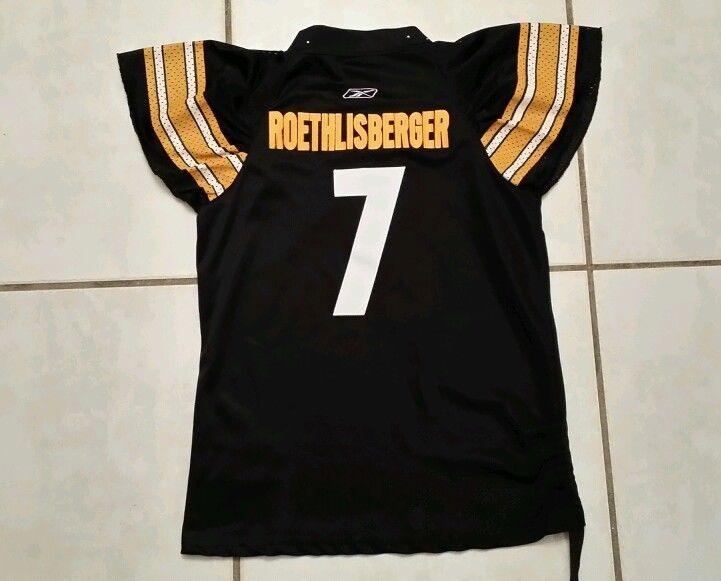 1ae49e993 Rare REEBOK Pittsburgh Steelers Ben Roethlisberger NFL Jersey Women s Large  in Sports Mem