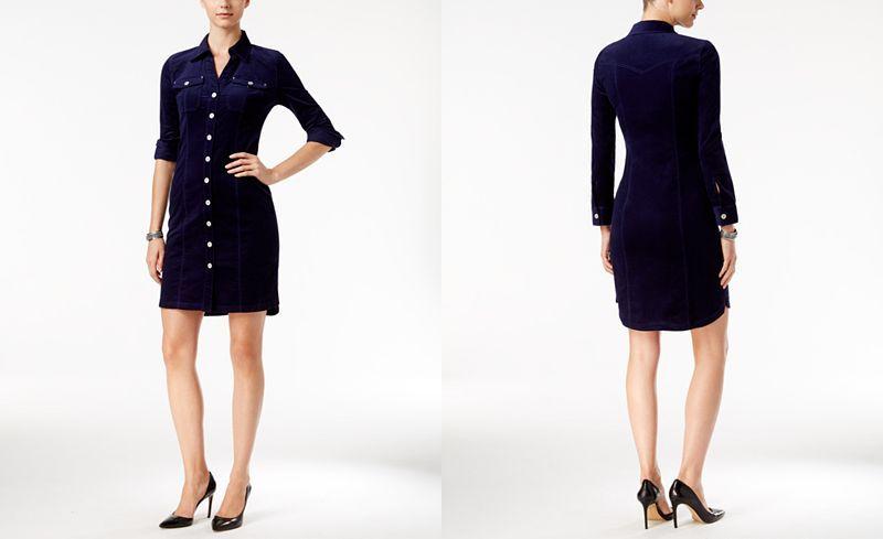 INC International Concepts Corduroy Shirtdress, Only at Macy's - INC International Concepts - Women - Macy's