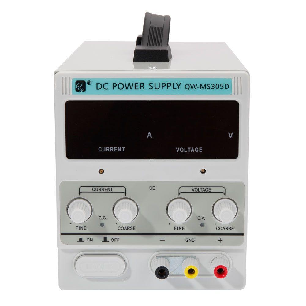 1x QW-MS305D 30V 5A Adjustable DC Stabilizer Power Supply US Standard Plug White