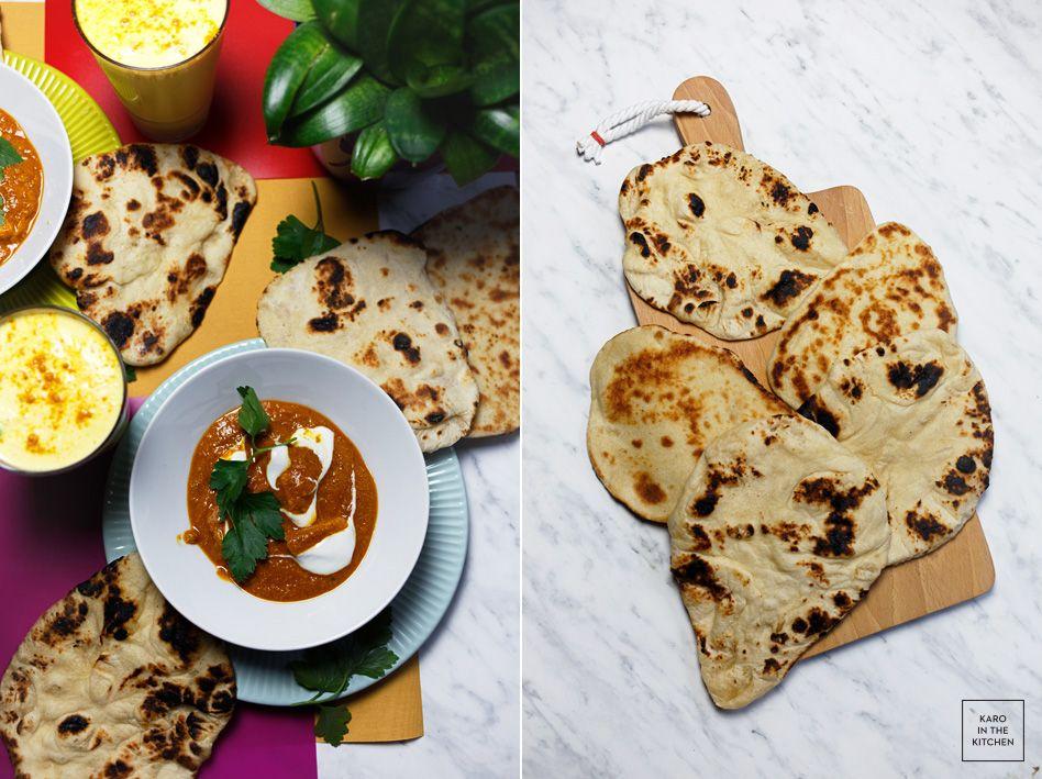 Indyjskie Pieczywo Chlebki Naan Karo In The Kitchen Naan Cooking Food