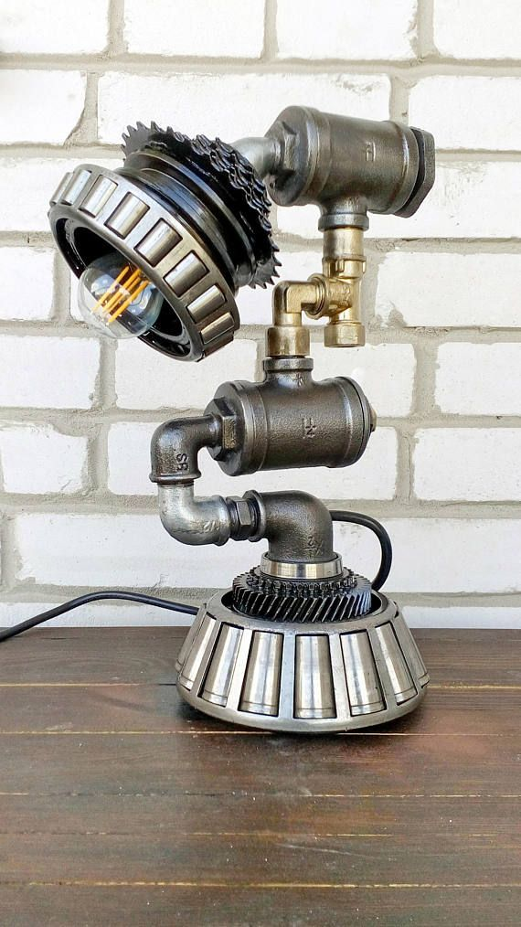 Steampunk Lamp Style Lighting Pipe Table Vintage Edison