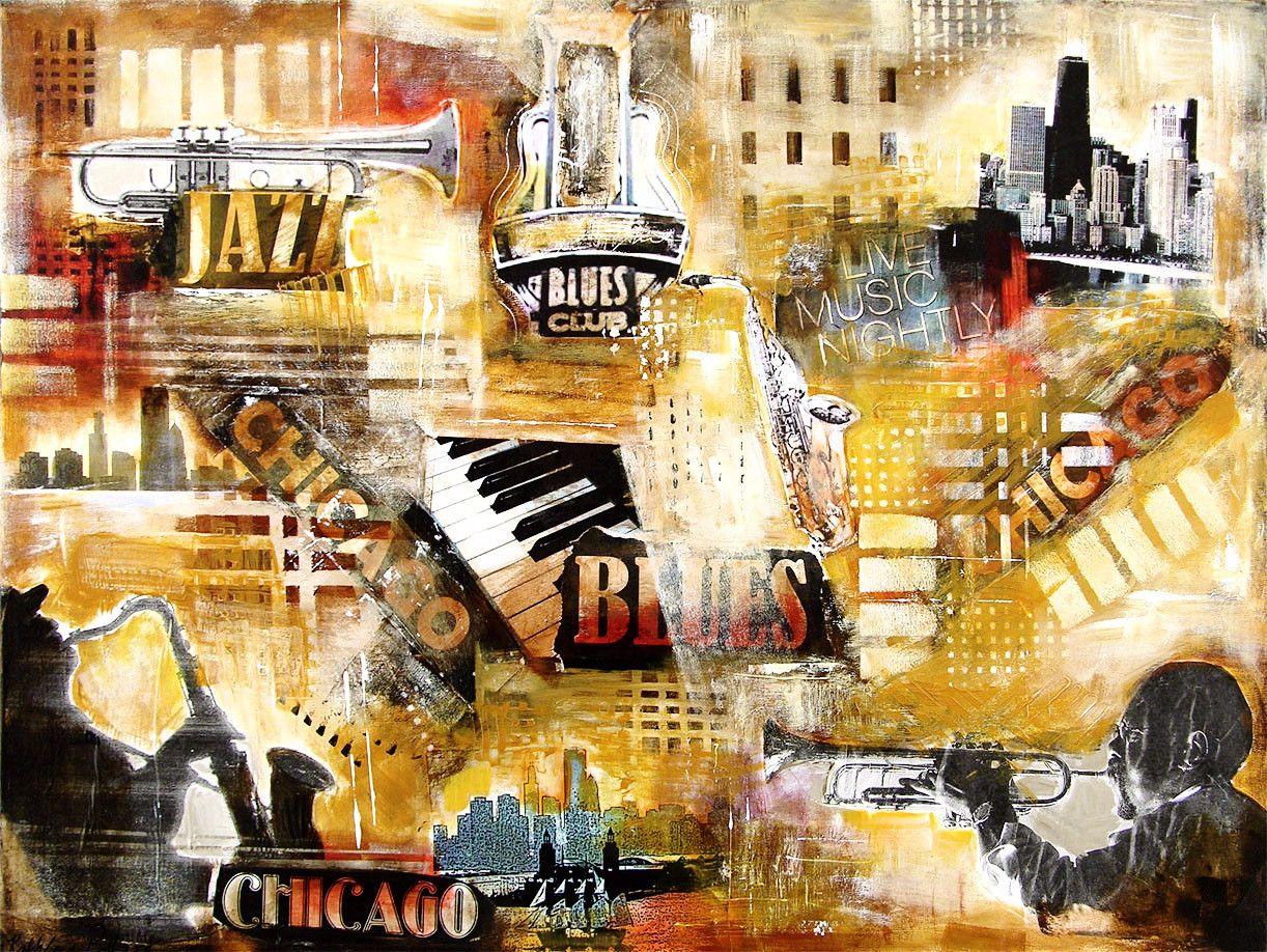 Chicago Jazz Art Print - \