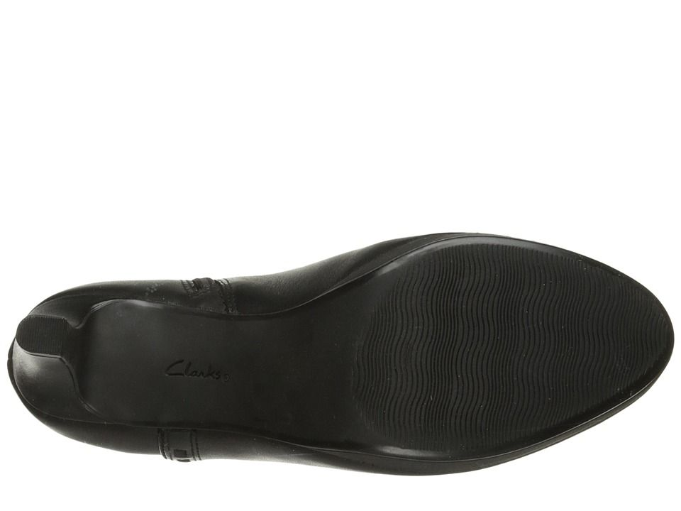 5f6e9e751b Clarks Adriel Sadie Women's Pull-on Boots Black Leather Pull On Boots, Black  Leather