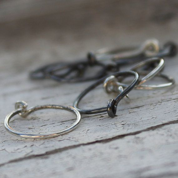 Sterling Silver Hoop Earrings  Tiny Hoops by ArtisticIntentions