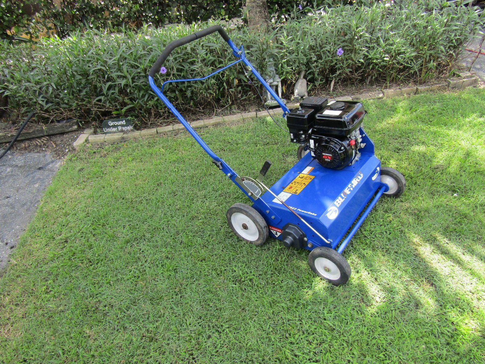 Bluebird 22 Flail Blade Power Rake Dethatcher Honda Engine Pr22h5fa Blue Bird Outdoor Lawn Mower