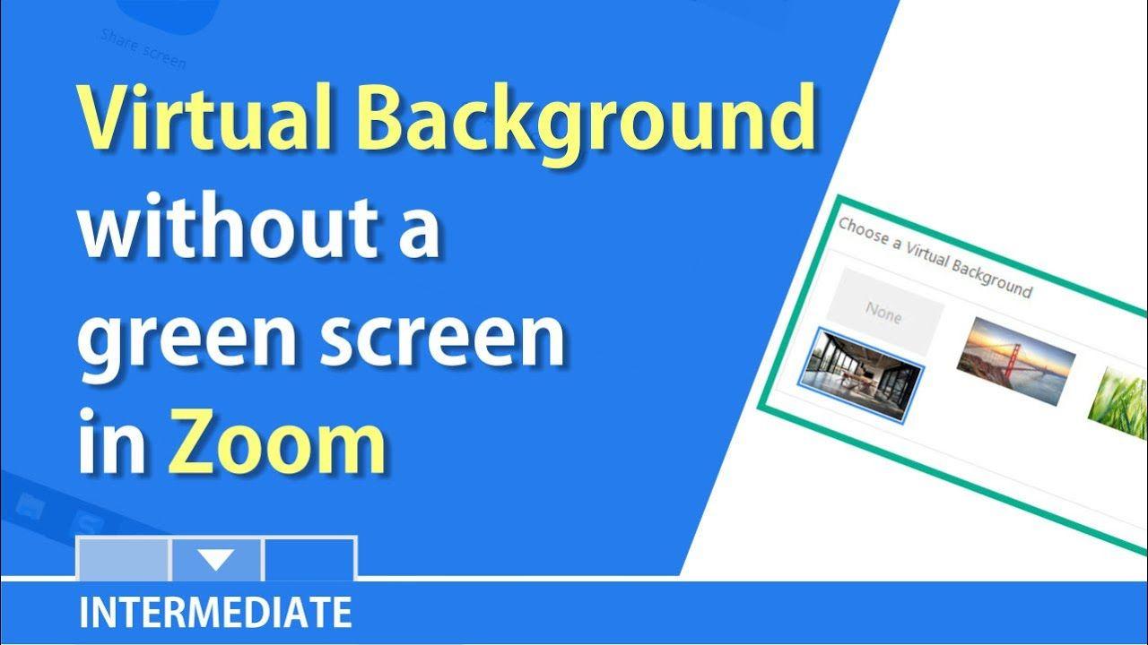 Zoom Now Allows A Virtual Background W O A Green Screen By Chris Menard Greenscreen Green Screen