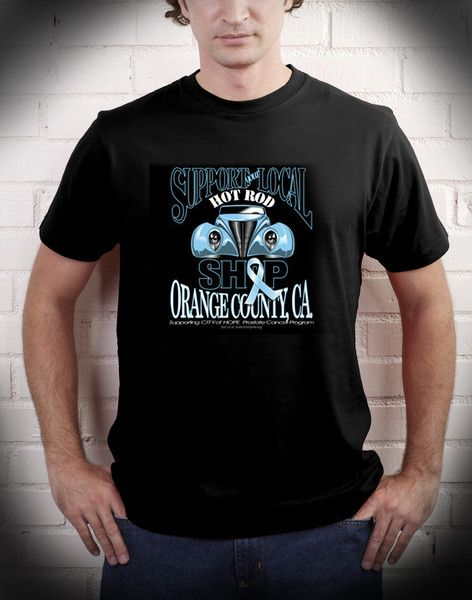 Support your Local Hot Rod Shop T-Shirt - Black
