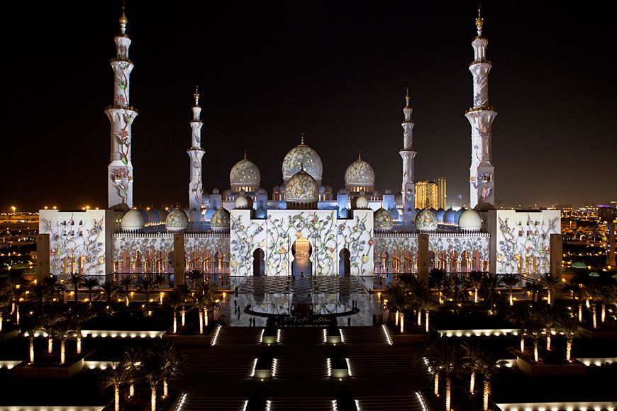 The mosque in Abu Dhabi is considered