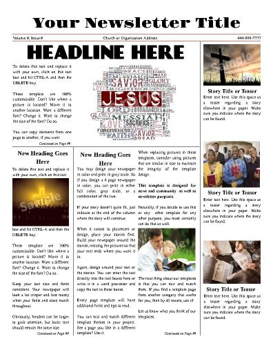 Try This 11x14 Newsletter Template Now Using Our Free Cloud Designer Makemynewspaper Templates