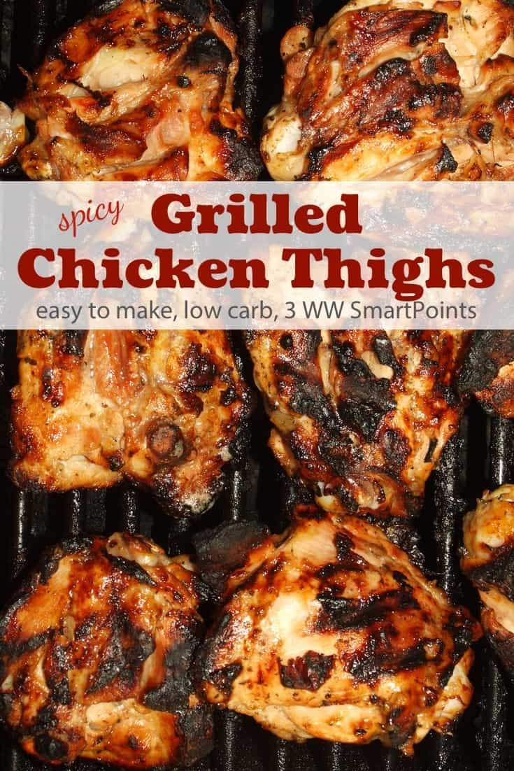 Spicy Grilled Chicken Thighs Recipe | Simple Nourished Living