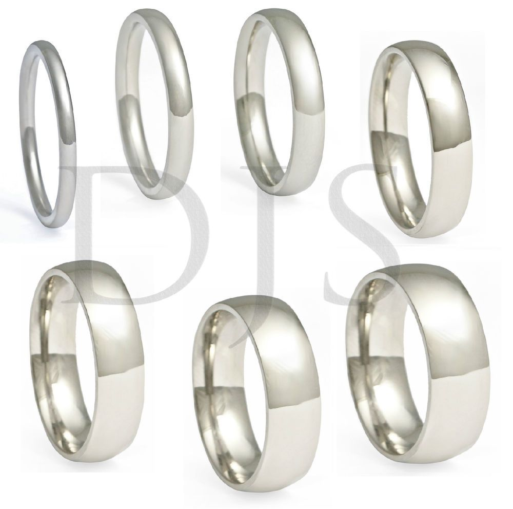 Stainless Steel Comfort Fit Plain Wedding Band Ring Men Women