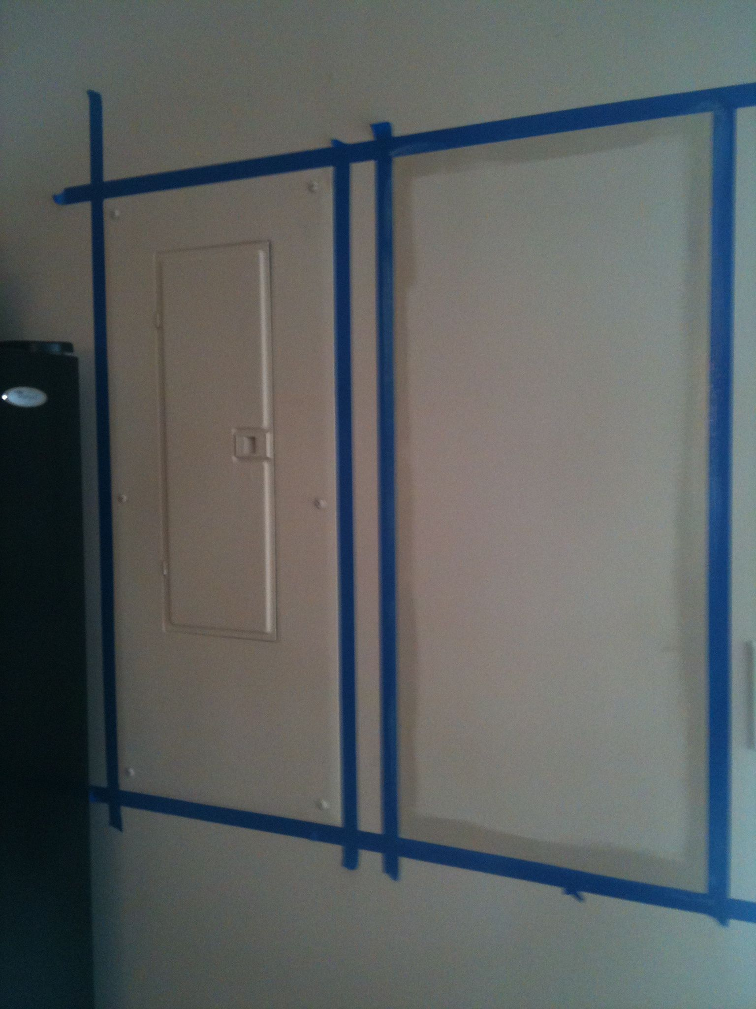 How to hide an electrical panel box! Breaker Box, Basement Ideas, Bed Room