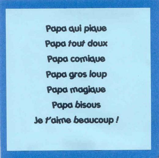 Clic Pour Agrandir Fete Des Pères Maternelle Poème Fête