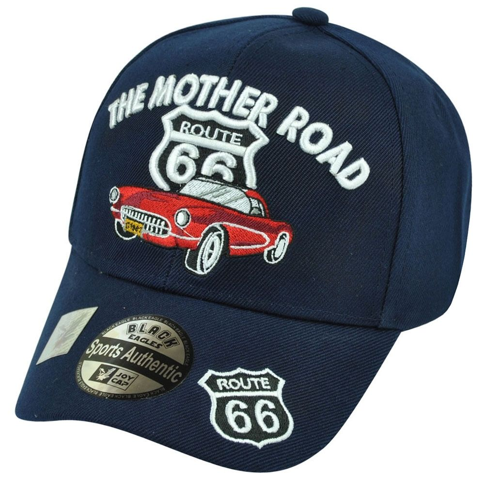 bd73a8c72a5e1 the Mother Road-Route 66 w Corvette on a new Navy Blue Ball Cap w ...