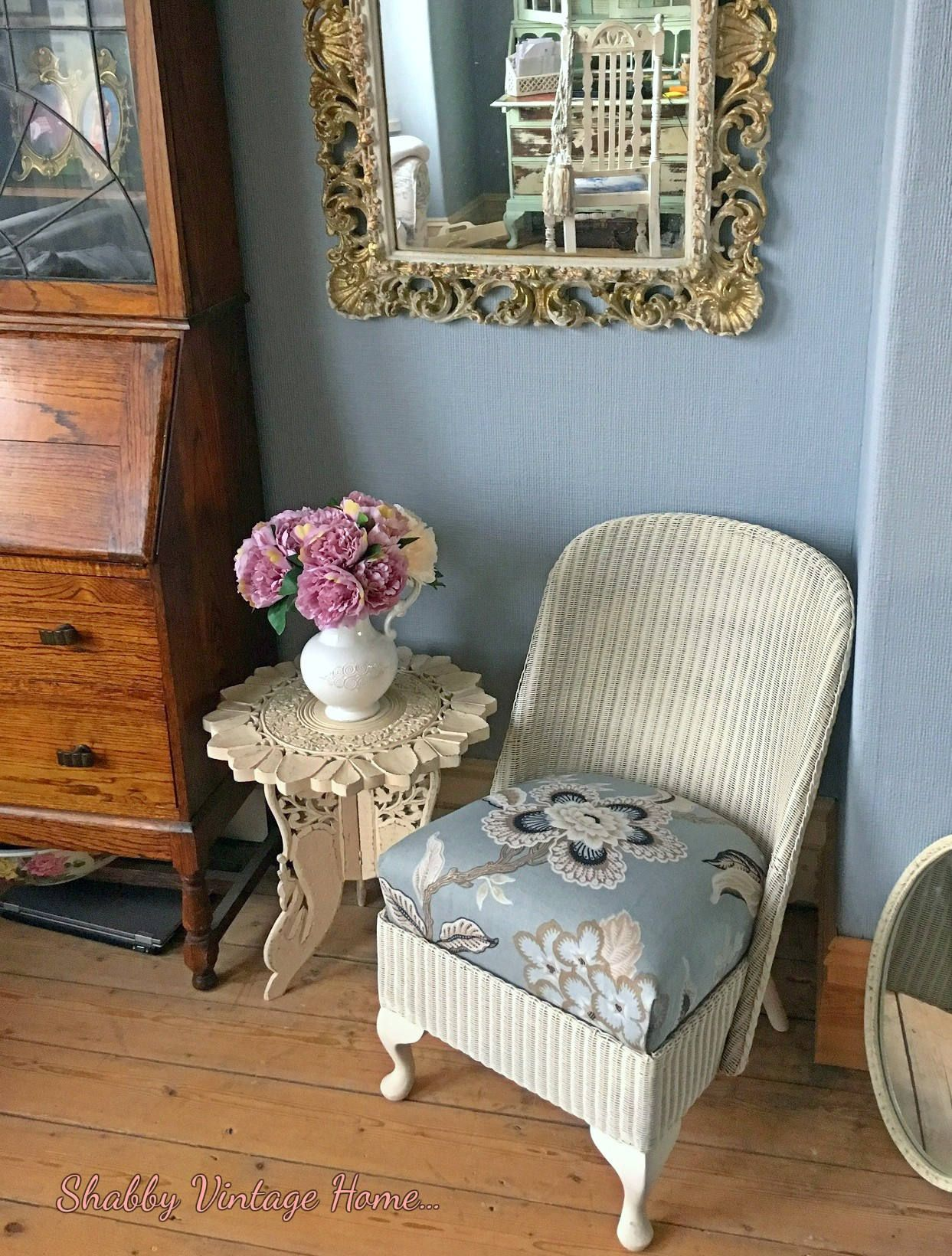 Vintage Lloyd Loom Nursing Chair 1950S Wicker Cane By Myvintagegirls