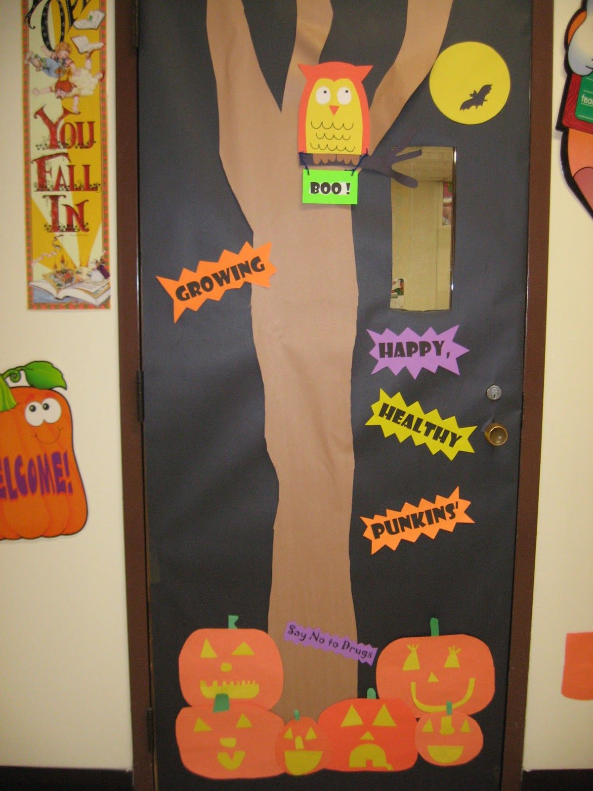 halloween school door decorating This was our door for Red Ribbon - Halloween Classroom Door Decorations