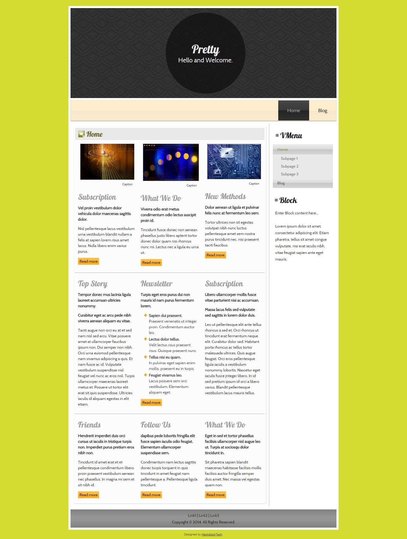 Something Pretty | HackstockTech | Web Design | Bright ...