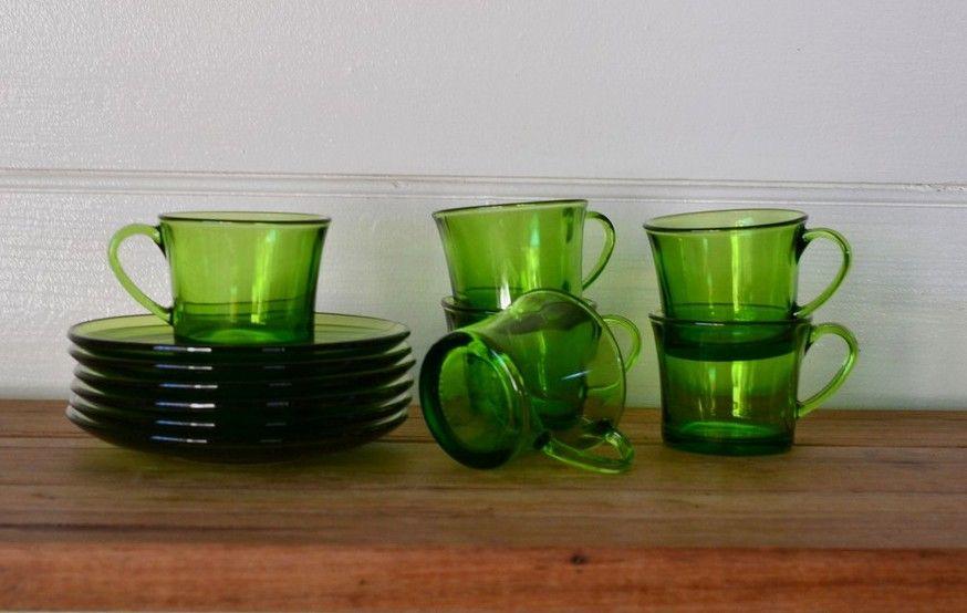 Vintage Green Short Black Gles