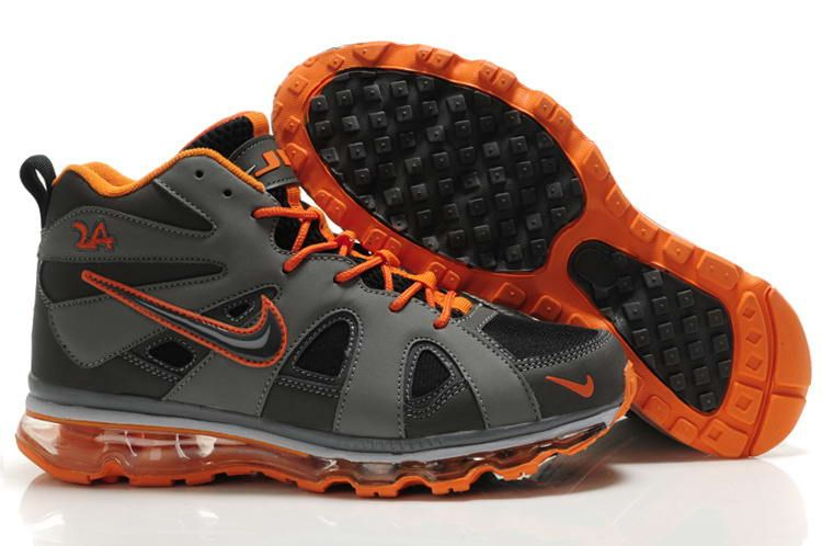 Nike Air Griffey Fury Mens Sports Grey Orange Black Shoes