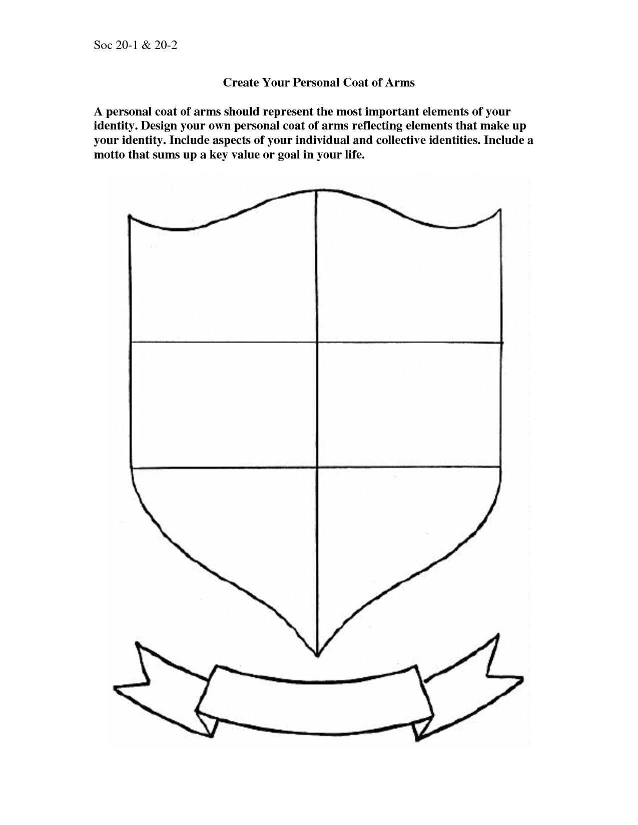 Make Your Own Coat Of Arms Template Timetravellers Typed