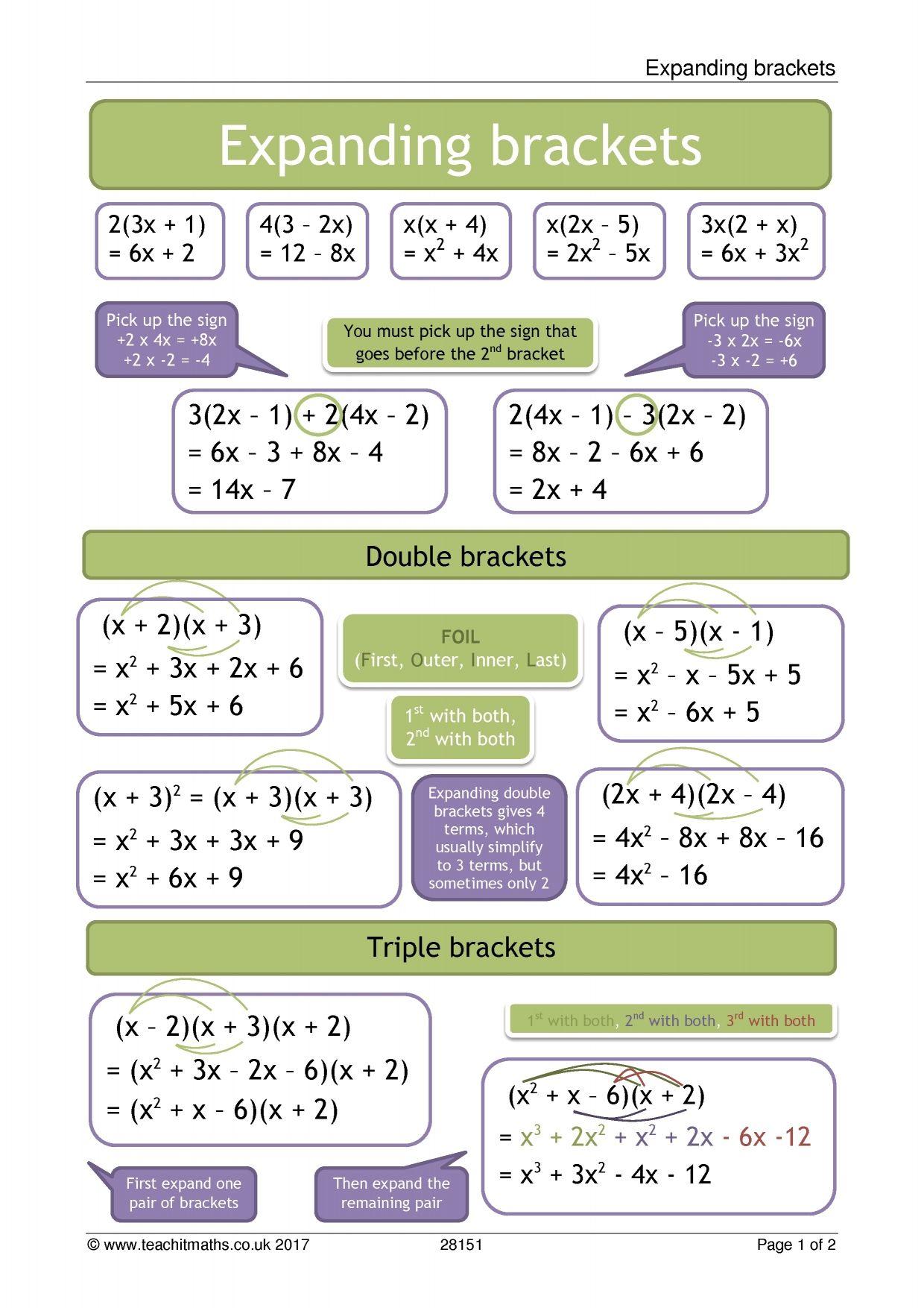 Maths Formula With Brackets