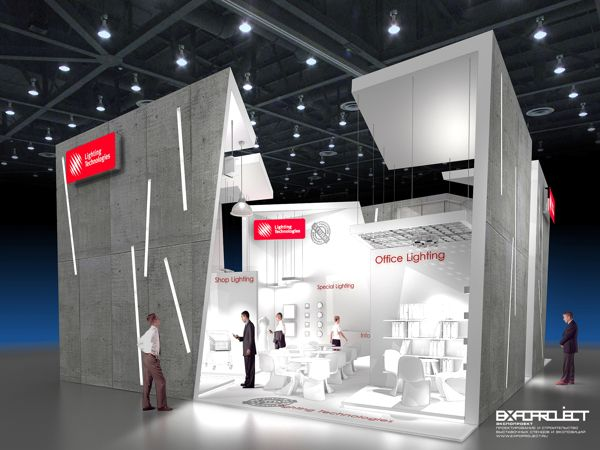 Exhibition Stand Behance : Exhibition stand lighting technologies on behance booth