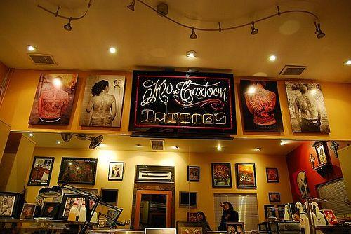 Mister Cartoon S Tattoo Shop Los Angeles Tattoo Shops Los