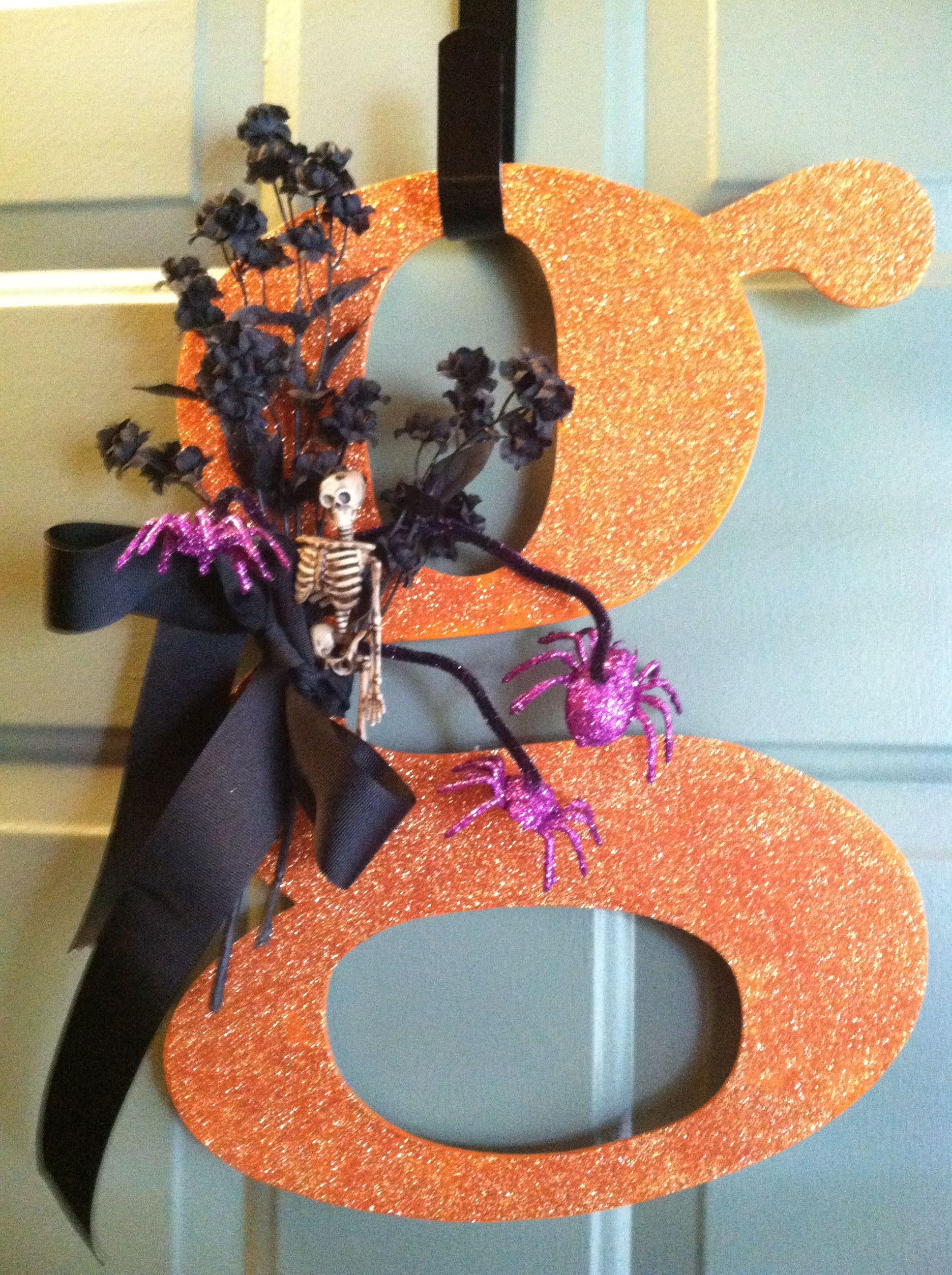 My door decoration for Halloween Spooky Fun Pinterest - door decoration halloween