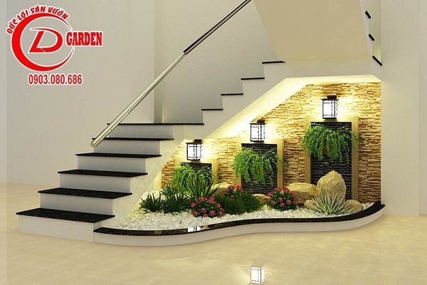 Thi t k ti u c nh trong nh 1 interiores stair decor - Escaleras jardin ...