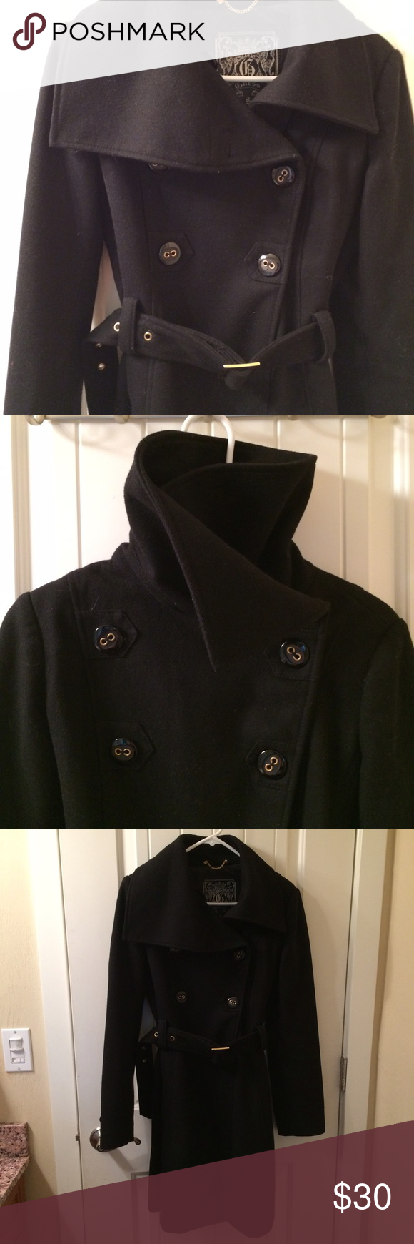 Beautiful wool Guess coat | High collar, Conditioning and Coats