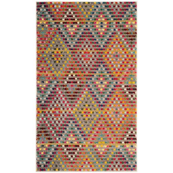 Photo of Geometric Multicolor Space Rug