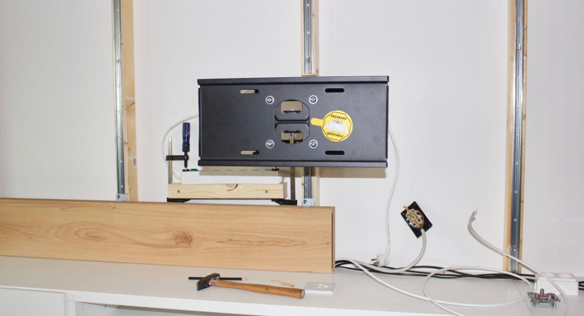 Diy Tv Wand Aus Holz Bauen Mit Bildern Tv Wand Holz Tv Wand