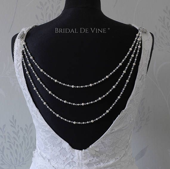 Bridal Backless Dress, Back Jewellery, Backdrop Wedding