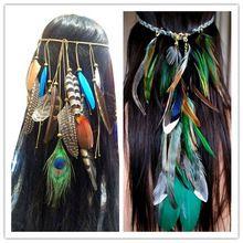ea8315791f hippie bohème frange de feuille de plume coiffes coiffure cheveux ...