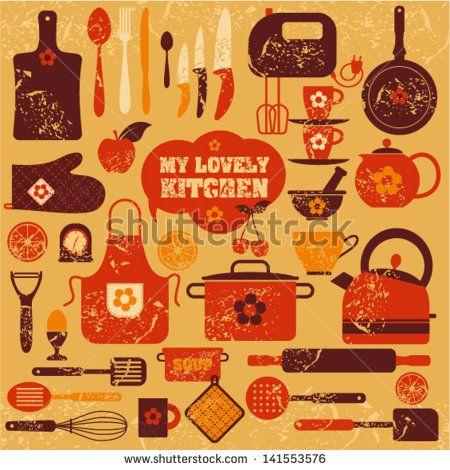 Lovely kitchen background.
