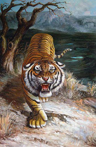 8948707bfa3ecfaee18d345a68d22d4a Jpg 328 500 Lukisan Hewan Binatang Binatang Buas