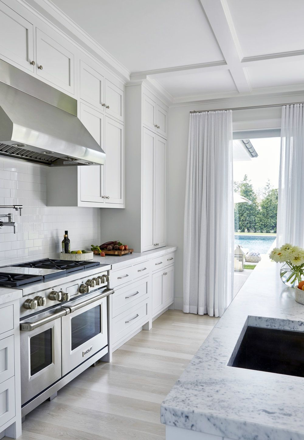 wall treatments in the kitchen to elevate the space. amagansett