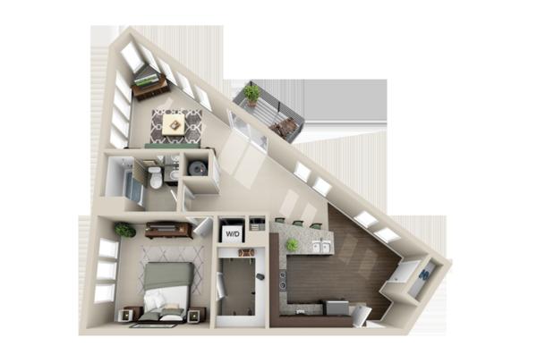 planos de casas pequenas en esquina