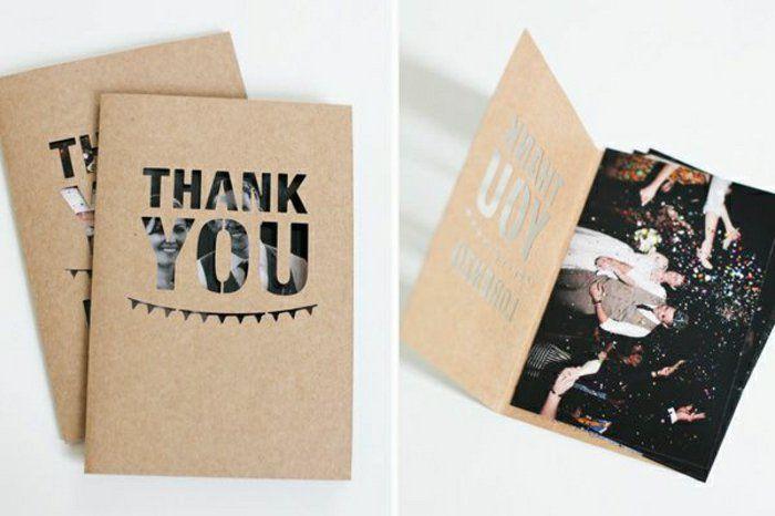 Jolies cartes de remerciements