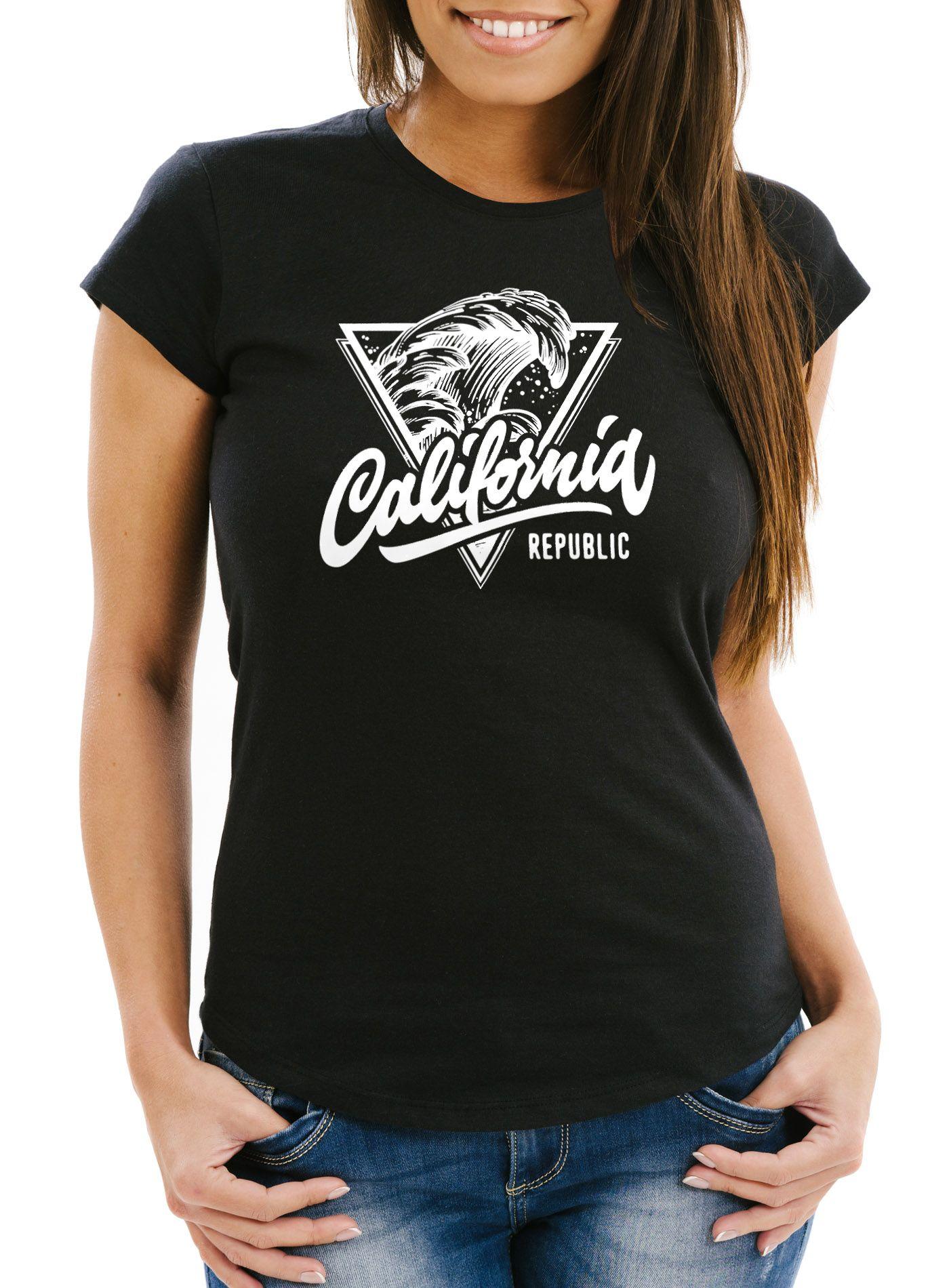 Damen T-Shirt Anker Slim Fit Neverless®