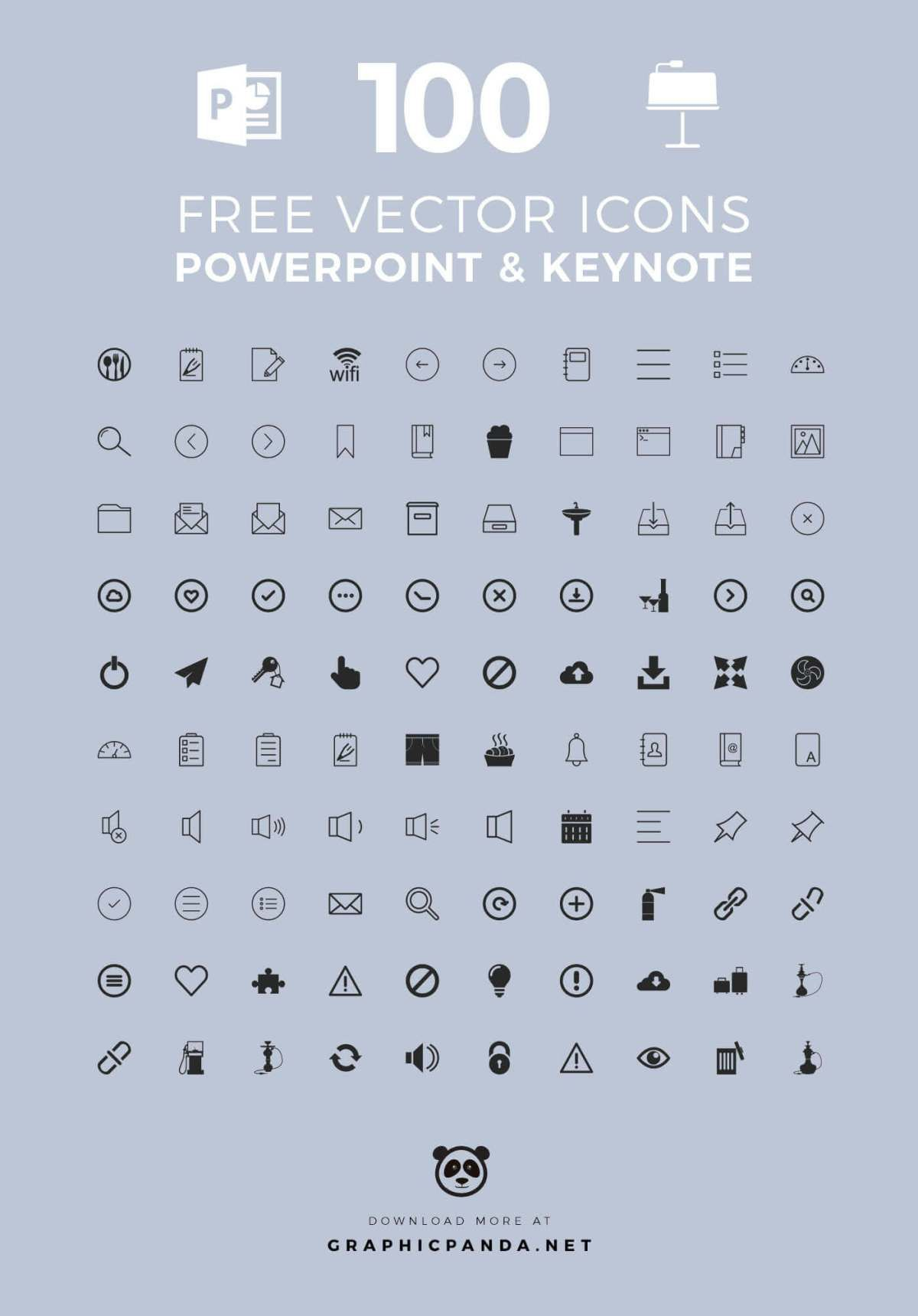 100 Free Universal Icons For Powerpoint And Apple Keynote Powerpoint Icon Powerpoint Free Powerpoint Presentations