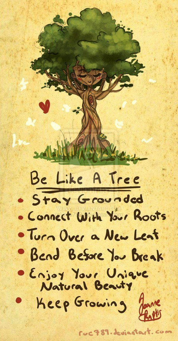 Be Like A Tree Positive Affirmations Thoughts