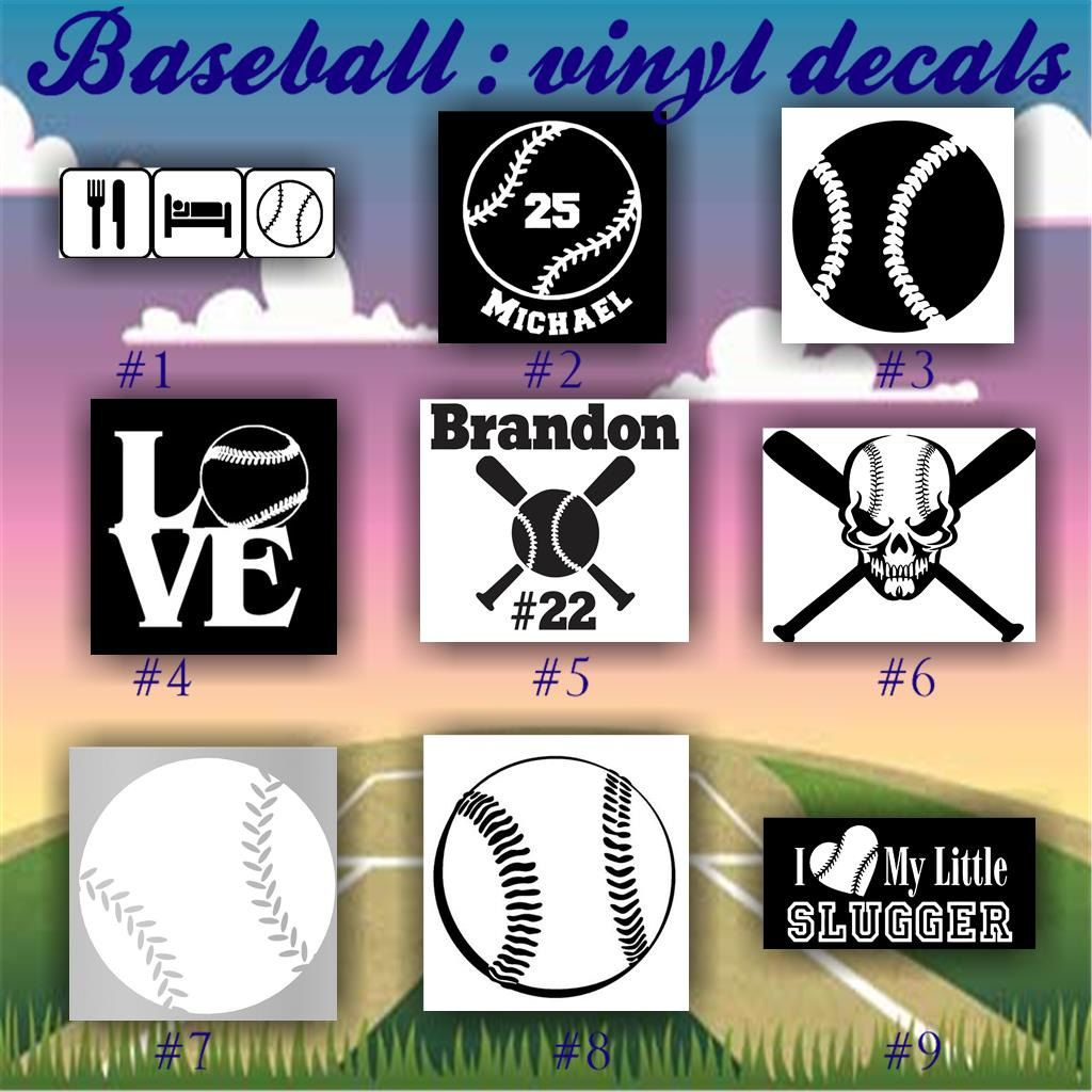 BASEBALL Vinyl Decals Vinyl Sticker Car Window Sticker - Custom vinyl baseball decals