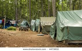 As a youth in Virginia we went to a boy scouts camp for Girl's camp. This is what the Tents looked like.