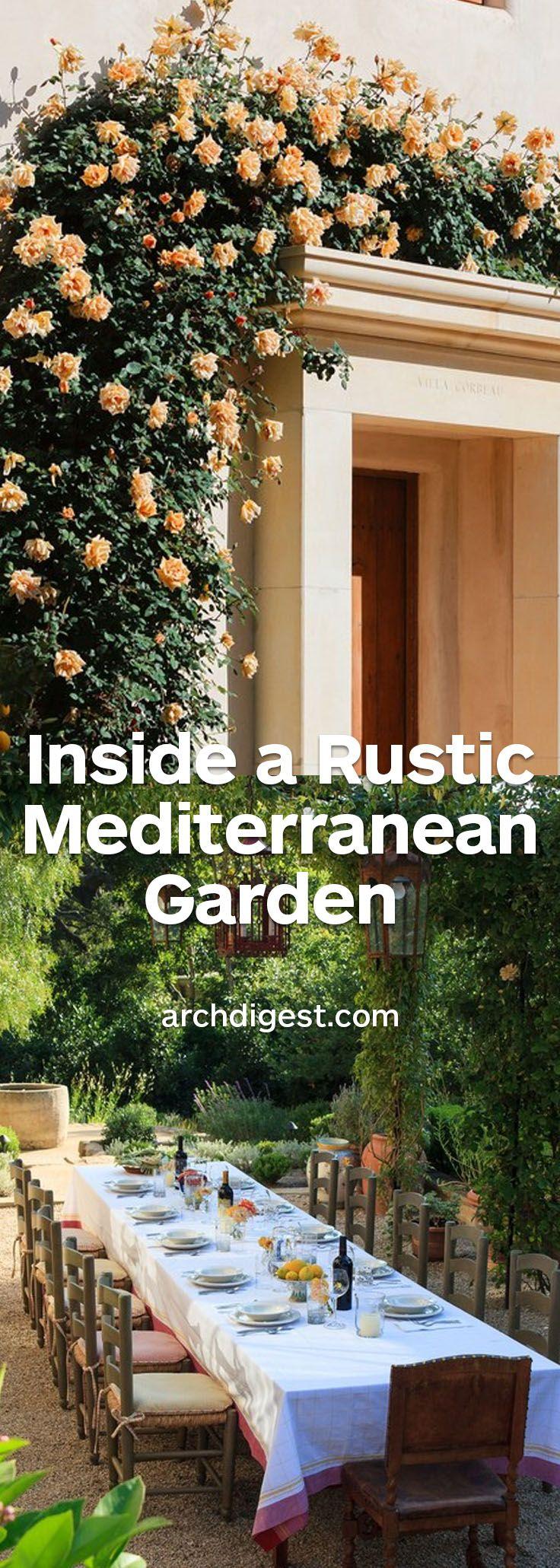An architect creates a rustic mediterranean inspired for Gartengestaltung joanna